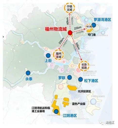 福州现代物流城选址连江五大优势